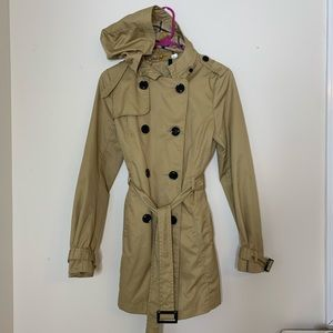 H&M Belted Trench Coat with Hood